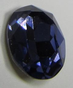 Glass Oval 13 x 18 mm Tanzanite (per 1)