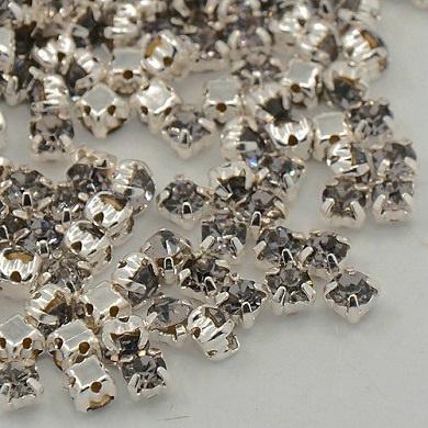 Chaton Montees SS12 3 mm Black Diamond (per 25)