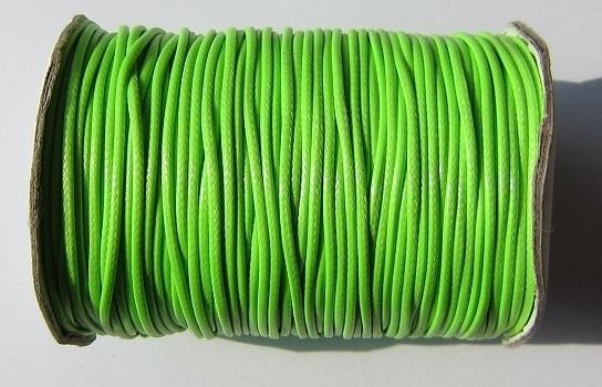 Waxkoord 1,5 mm Bright Green W083 (per meter)