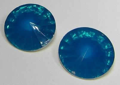 Resin Rivoli 18 mm Petrol Opal (per 2)