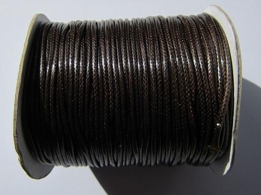 Waxed Cord 2 mm Coffee W032 (1 meter)