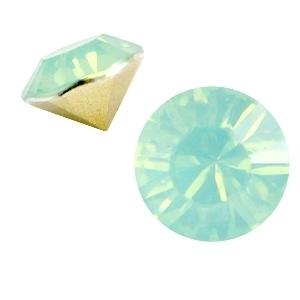 Resin Chaton SS29 Chrysolite Green Opal (per 10)