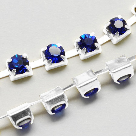 Cup Chain SS12 3 mm Royal Blue (per meter)