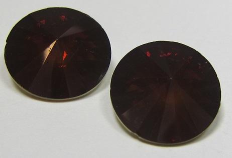 Resin Rivoli 16 mm Dark Smoke Topaz Opal (per 2)