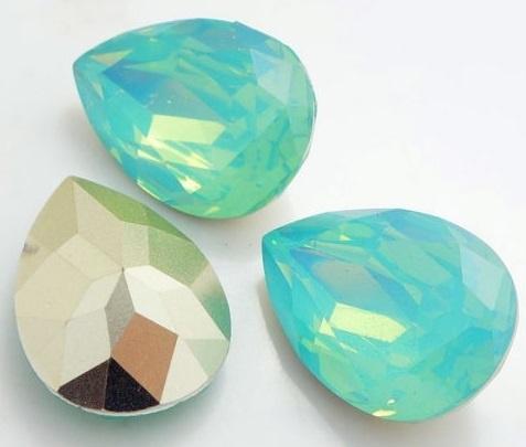 Resin Drop 13 x 18 mm Pacific Opal (per 1)