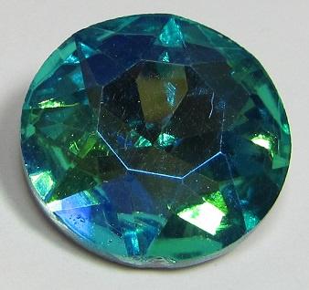 Glas Rivoli 27 mm Aqua Green Plated (per stuk)