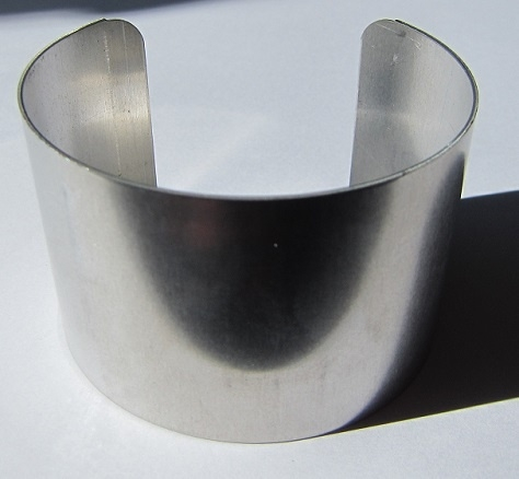 Aluminium Cuff 43 mm Recht (per stuk) *Pakketpost