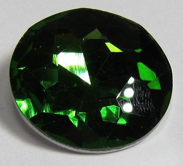 Glas Rivoli 27 mm Fern Green (per stuk)
