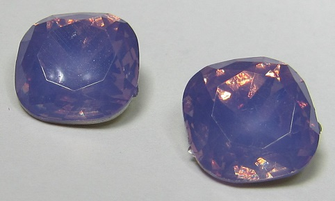 Resin Vierkant 12 mm Light Tanzanite Opal (per 2)