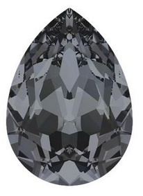Swarovski Druppel 4320 14 x 10 mm Crystal Silver Night (per stuk)