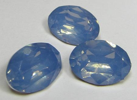 Resin Oval 10 x 14 mm Sapphire Opal (per 3)