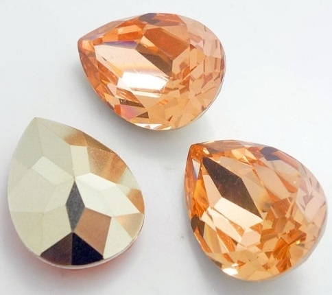Resin Drop 18 x 25 mm Peach (per 1)