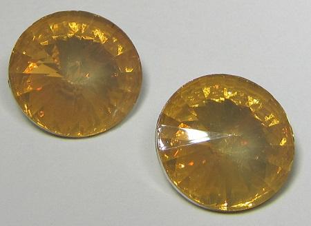 Resin Rivoli 18 mm Peach Opal (per 2)