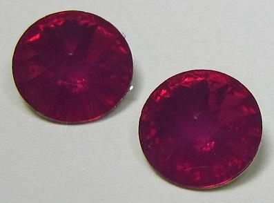 Resin Rivoli 10 mm Fuchsia Opal (per 4)