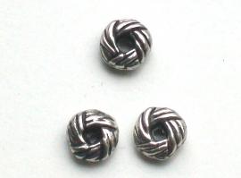 090990 metalen kraal rondel knoop