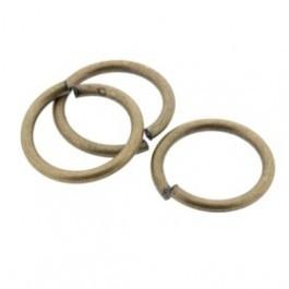 090779 12mm open ring dik (Mat goud/brons) prijs per stuk