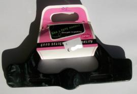 OPRY Bag & Tote Handle , gemelleerd zwart kunststof, 19 cm