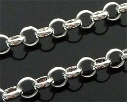 090581 Jasseron zilver ring, schakel ± 6mm  1 meter