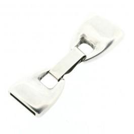 090759 Slot voor 13x2mm leer (Antiek zilverkleur)