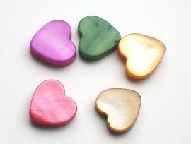 060035 schelp hart per 3 stuks diverse kleuren