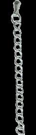 091018 Verlengkettinkjes 6cm (Zilverkleur) platinum 5 stuks in een zakje