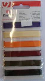 Ripsband, 6 kleuren