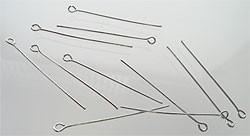 090815 Kettelstift 60mm (Nikkelkleur) 10 stuks