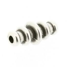 090772 Kraal ovaal met ringen (17x8mm) (Antiek zilverkleur) zware kwaliteit!