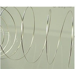 "090262 ""Armbandvee staaldraad (doorsnee 54mm) """"Memory Wire"""" 0,8mm (doorsnee 54mm)"" (Nikkelkleur)"