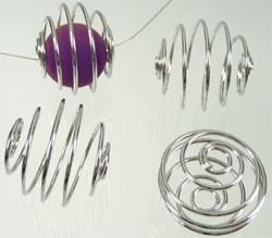 090738 Metaal spiraal 17x15mm (Nikkelkleur)