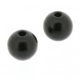 050023 Houten Kraal Rond 8mm (Zwart) 1e kwaliteit.