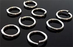 090949 Aluminium ringetje rond 15mm (± 1,8mm dik) (Zilverkleur) 30 stuks