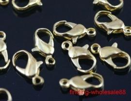090848 Metalen slotje 12x6mm (Goudkleur) 5 stuks