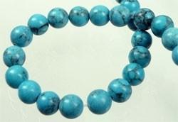 030108 Natuursteen Imitation Turquoise rond ± 6mm (Turkoois)