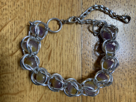 Armband paars/donkergeel