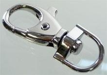 Musketonhaken zilver groot 5 cm