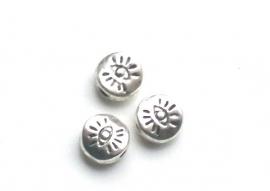 090993 metalen kraal oog. 5 mm zilverkleur