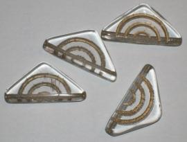 020023 Transparant met goudkleurige driehoek.