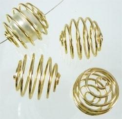 090817 Metalen kralen spiraal 15mm (Goudkleur)