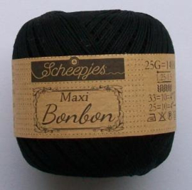 Maxi Bonbon, kleurnr. 110 (zwart) 25 gram