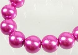 110325 Glas parels 8mm (Roze)  50 stuks in zakje