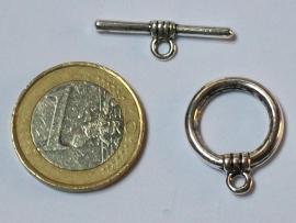 Sluiting kapittel ring 21x18mm zilver