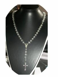 210090 Rozenkrans chinees   kristal, (rondellen)  supertrend!