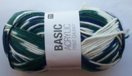 Rico Basic Acryl Print Chunky, kleurnr 003, 100 gram