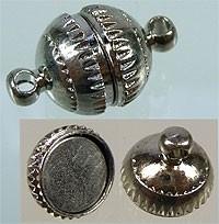Metaal magnetische sluiting 17x10mm  (zilver)