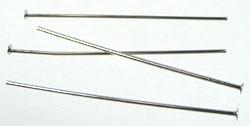 Nietstiften nikkelkleur 30 mm per zakje van 50 stuks
