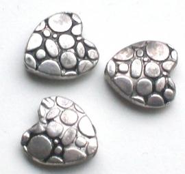 090997 metalen kraal hart bewerkt 1 cm