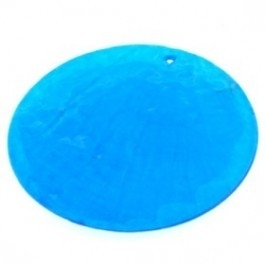 100026 Schelp Rond 1-gaats, 50mm (Turquoise)