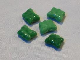 020001 Glazen vlinderkraaltjes groen