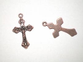 Crucifix koper 2,5 cm